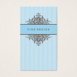ELEGANT VINTAGE pretty beautiful renaissance blue Business Card