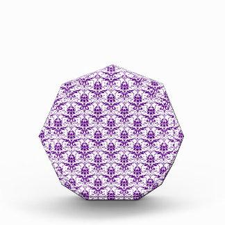 Elegant Vintage Purple and White Damask Pattern Awards