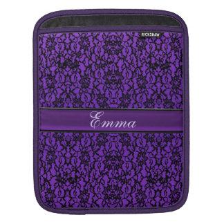 Elegant Vintage Purple Lace Personalized Cases