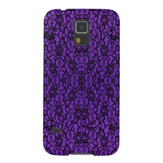 Elegant Vintage Purple Lace Samsung Galaxy S5 Case