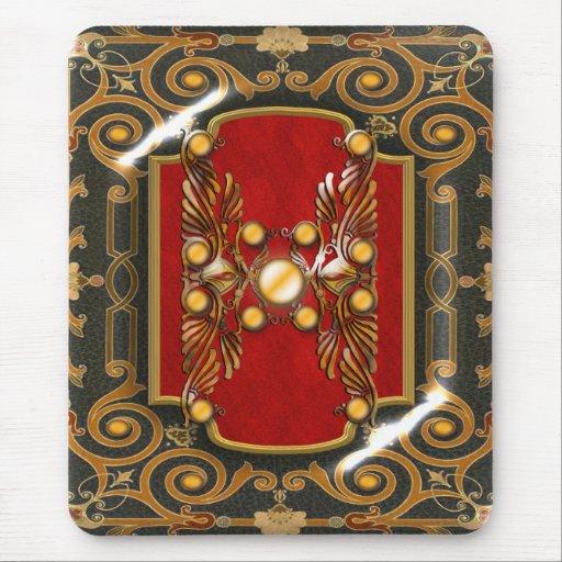 Elegant vintage red brown customizable mousepad