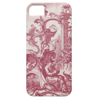 Elegant Vintage Red French Toile Man and Dog iPhone 5 Covers