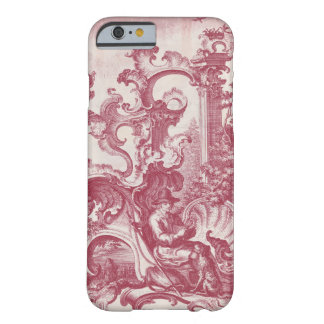 Elegant Vintage Red French Toile Man and Dog iPhone 6 Case