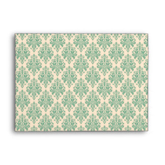 Elegant Vintage Retro Damask Pattern Envelope