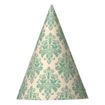 Elegant Vintage Retro Damask Pattern Party Hat