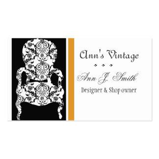 Elegant Vintage Retro Modern Antique Vintage Chair Business Cards