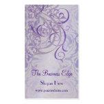Elegant Vintage Rococo Purple Business Card