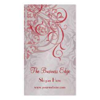 Elegant Vintage Rococo Red Business Card