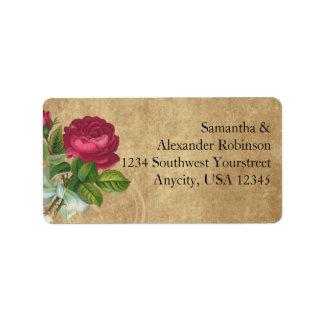Elegant Vintage Rose, Magenta/Brown Label