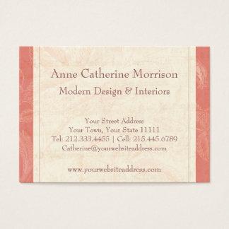 Elegant Vintage Rose Peach Colored Background Business Card