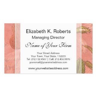 Elegant Vintage Rose Peach Colored Background Business Card Template