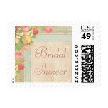 Elegant Vintage Roses Bridal Shower Stamp