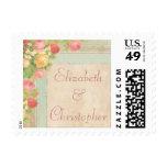 Elegant Vintage Roses Wedding Postage Stamp
