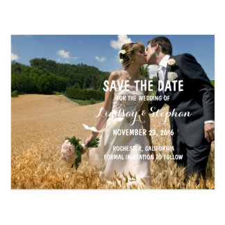 Elegant Vintage - Save the Date Photo Invitations Postcard