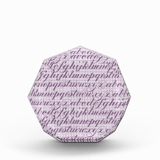 Elegant Vintage Script Typography Lettering Purple Acrylic Award