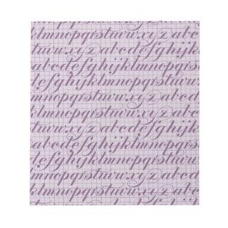 Elegant Vintage Script Typography Lettering Purple Memo Note Pads