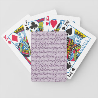 Elegant Vintage Script Typography Lettering Purple Bicycle Card Decks