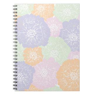 Elegant Vintage Spring Floral Pattern Notebook
