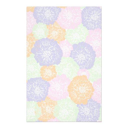 Elegant Vintage Spring Floral Pattern Stationery