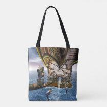 Elegant Vintage Steampunk dragon art Tote Bag