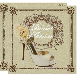 Elegant Vintage Stiletto Bridal Shower Invitation