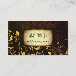 elegant vintage style custom business card