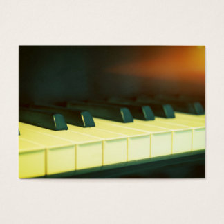 Elegant Vintage Style Grand Piano Keys Photograph Business Card