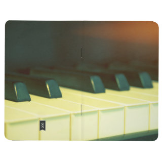 Elegant Vintage Style Grand Piano Keys Photograph Journal