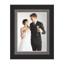 Elegant Vintage Style Wedding Photo Frame Canvas Print