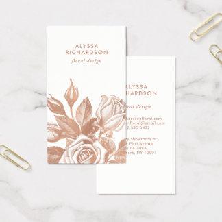 Elegant Vintage Tea Roses Business Card