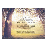 Elegant Vintage Tree Wedding Invitation
