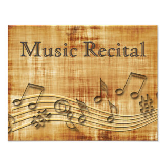 Elegant Vintage Unisex Music Recital Invitations