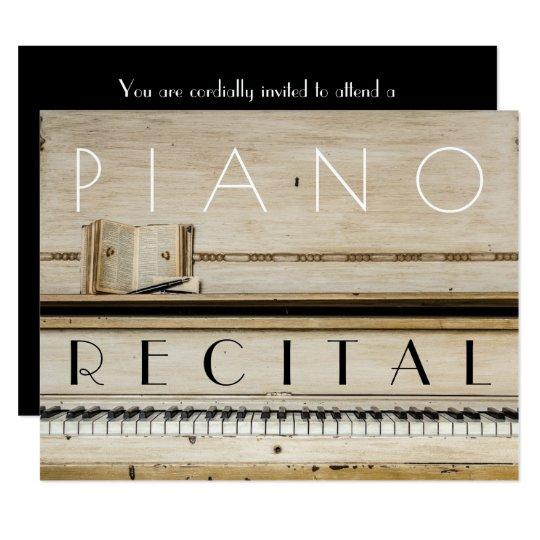 elegant vintage unisex piano recital invitations zazzle com