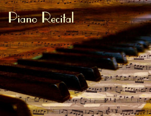 recital invitations zazzle
