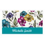 Elegant Vintage Victorian Flowers Business Card Templates