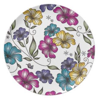 Elegant Vintage Victorian Flowers Plate