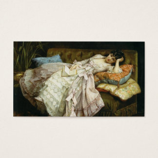 Elegant Vintage Victorian Lady, Art Template Business Card