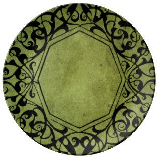 Elegant Vintage Victorian Style Design Porcelain Plates