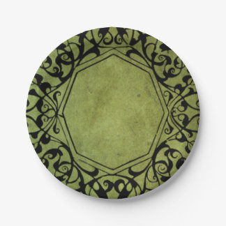 Elegant Vintage Victorian Style Design 7 Inch Paper Plate