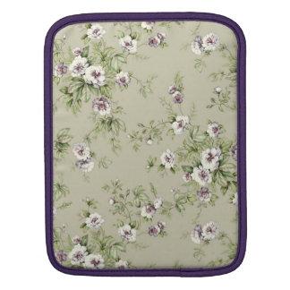 Elegant Vintage Violet Flowers iPad Sleeve
