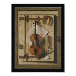 Elegant Vintage Violin Music Recital Invitations