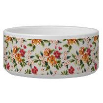 Elegant Vintage Watercolor Flowers Pattern Bowl
