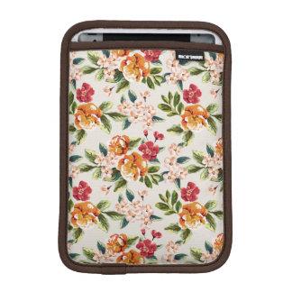 Elegant Vintage Watercolor Flowers Pattern iPad Mini Sleeves