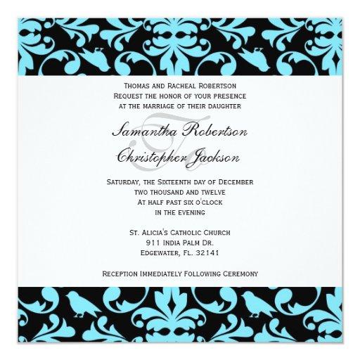 Elegant Vintage Wedding Invite