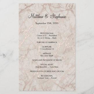 "elegant vintage Wedding Program Flyer 5.5"" x 8.5"""