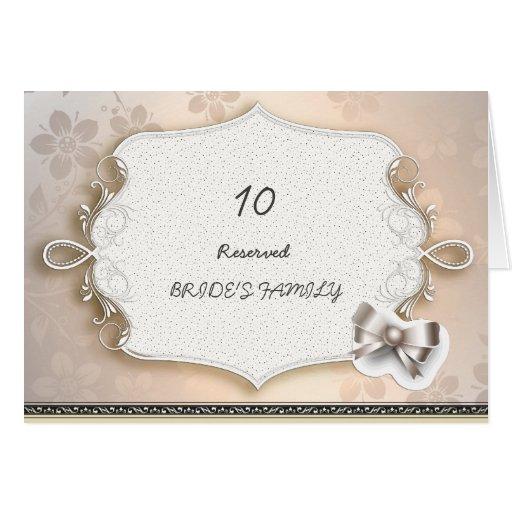Elegant Vintage Wedding  Wedding Table Numbers Card