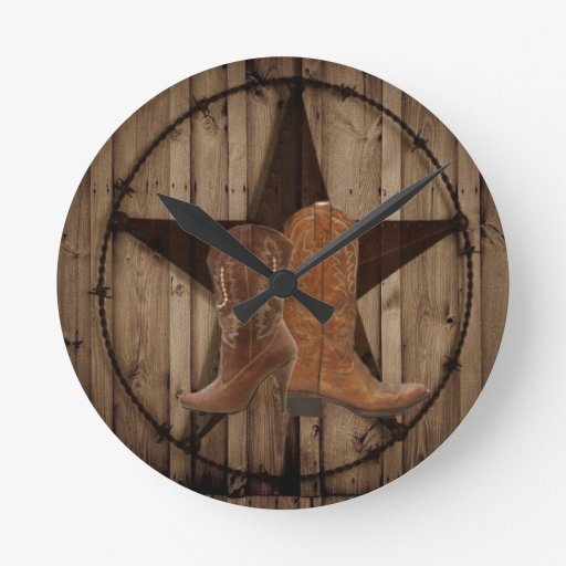 elegant vintage western country fashion clock