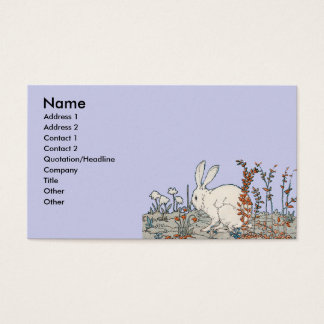 Elegant Vintage White Rabbit Business Card