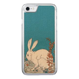 Elegant Vintage White Rabbit Flowers Carved iPhone 7 Case