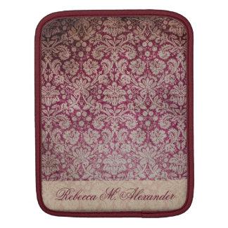 Elegant Vintage Wine Damask Pattern Custom Sleeve Sleeve For iPads